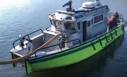 Lake Ozark FPD Launches New Fire Boat